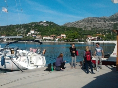 Saying goodbye to our new friends (and the boat!)