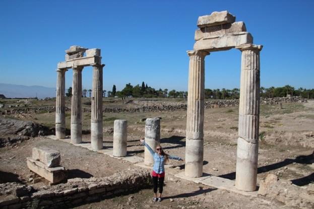 The Roman ruins of Hierapolis