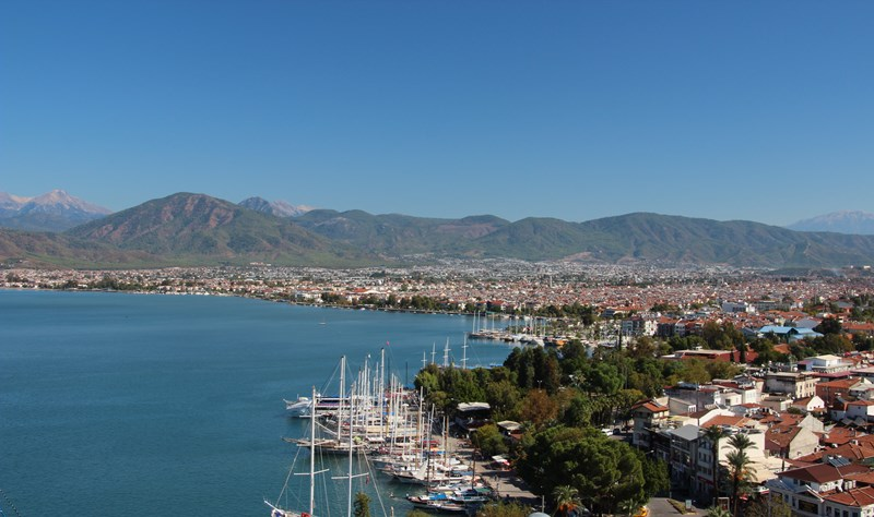 View over Fethiye from near our hostel