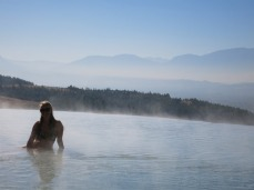 A dip in the hot springs at Pamukkale