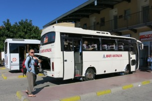 Changing buses on the way to Kas