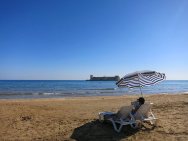 Beach time at Kizkalesi