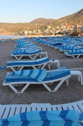 The beach at Alanya shortly after sunrise