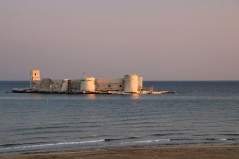 The 'floating' castle just offshore at Kizkalesi