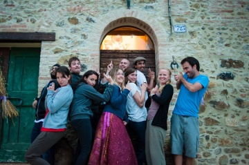 Our friends at the Perugia Farmhouse Hostel