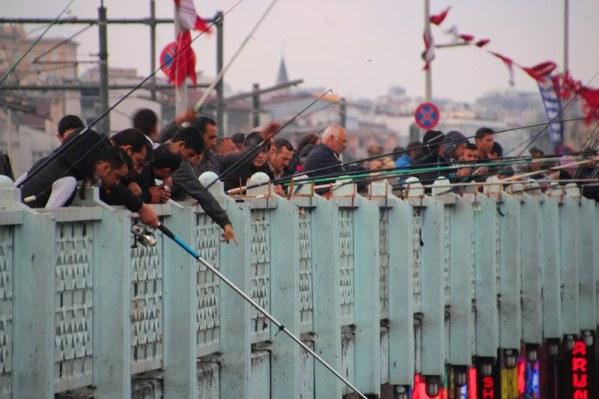 The fisherman on the Galata Bridge