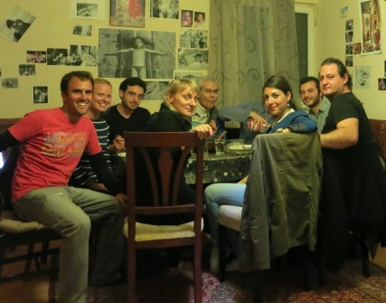 Dinner with our friends from Syria, Turkey, etc
