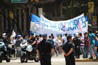There are 5 protests on average everyday in Buenos Aires - this is one of them