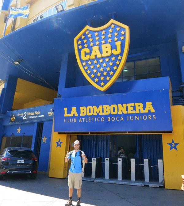Outside the Boca Juniors Football Stadium