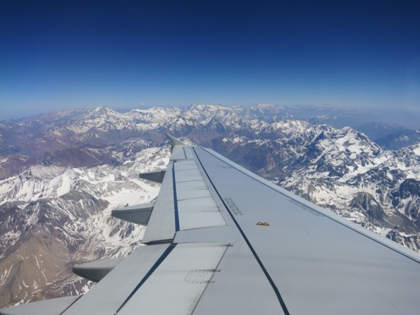 An amazing view - flying over the Andes!
