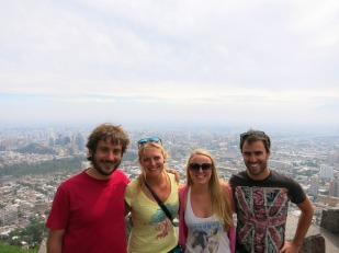 View over Santiago from San Cristobal Hill