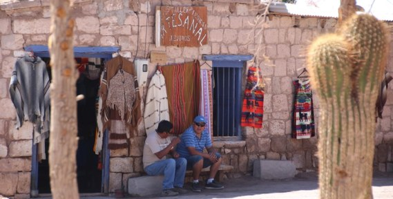 Locals in the town of Toconao