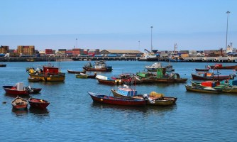 The colourful port at Arica