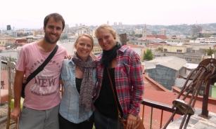 With Steffi at a Valparaiso art cafe