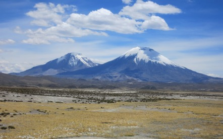 Active volcanoes on route to Bolivia