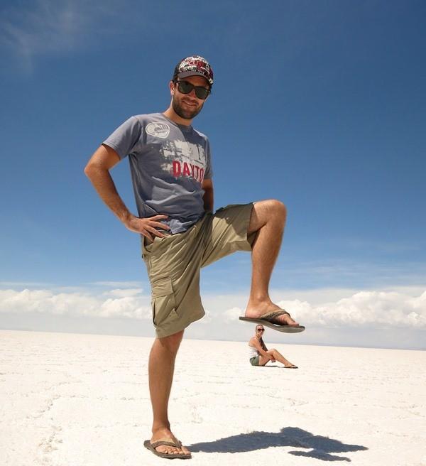 Having fun at the salt flats!