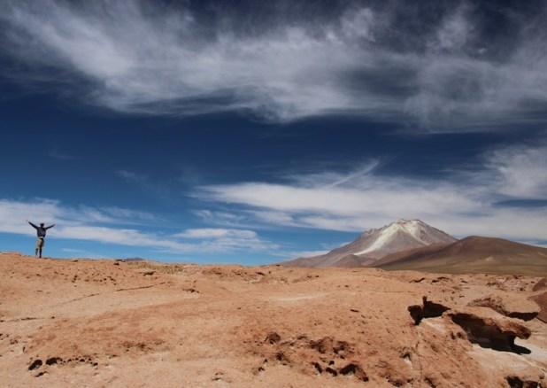 Dramatic volcanic landscape