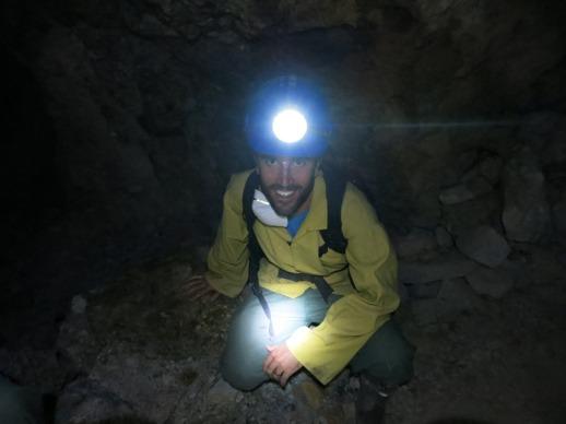 Ian in the mine