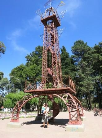 The mini Eiffel Tower