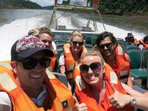 Boat ride into the falls