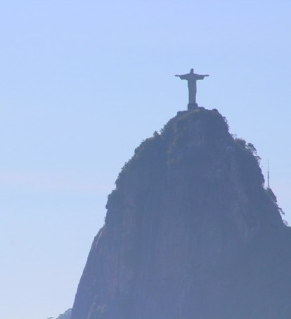 Looking at Christ the Redeemer from Sugar Loaf Mountain