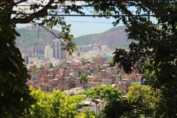 view of a favela from Santa Teresa