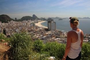 Amazing views from the favela over Copacabana Beach