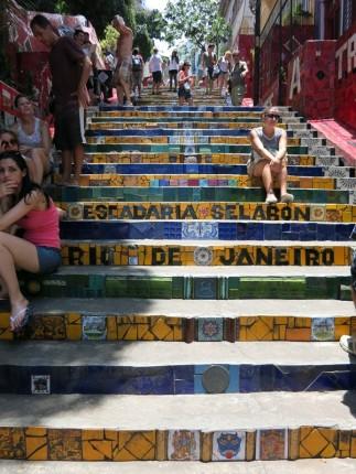 Escadaria Selarón - the famous steps in Lapa
