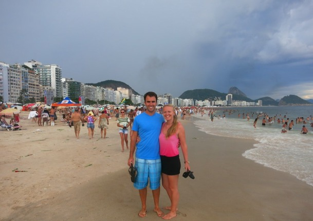 Copacabana Beach before a thunderstorm