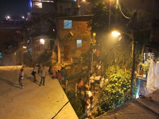 New years eve on the way up into the favela