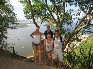 On the climb up to the view point of Sugar Loaf Mountain